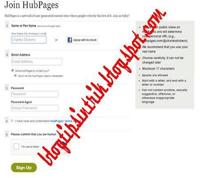 Tutorial mendaftar membuat akun hubpages terbaru