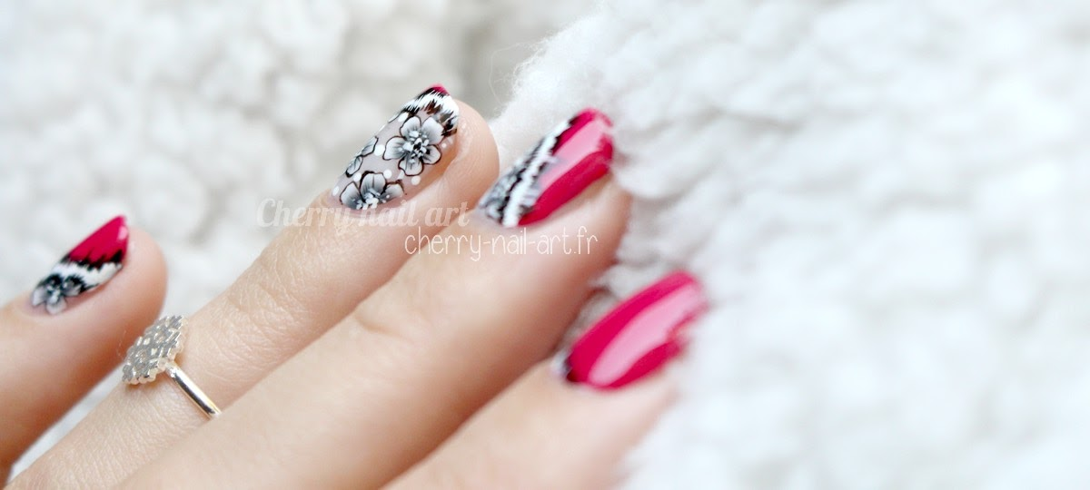 nail-art-mani-swap-nails-arc-en-ciel-fleurs-one-stroke-fourrure