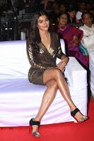 Pooja Hegde looks glamarous in deep neck sleevless short tight golden gown at Duvvada Jagannadham thank you meet function 043.JPG