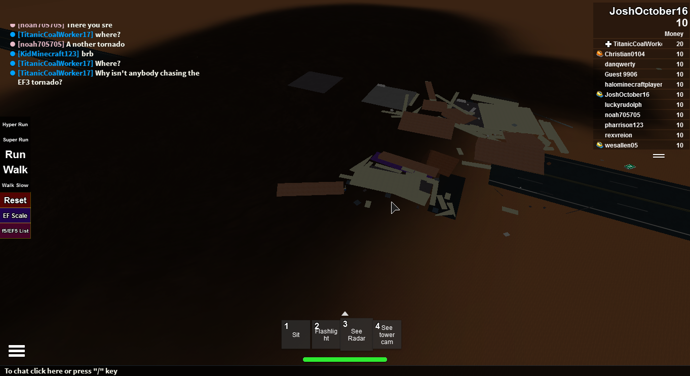 Roblox Tornado Chasers Project Supercell Tornado Damage Survey