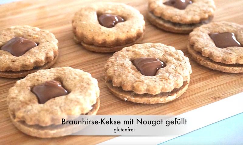 50 looks of lovet glutenfreie kekse mit braunhirse mit nuss nougat gef llt fashion 40 50. Black Bedroom Furniture Sets. Home Design Ideas
