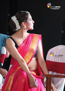 Kajal Agarwal in Red Saree Sleeveless Blouse Stunning Pics Exclusive Galleries 005.jpg
