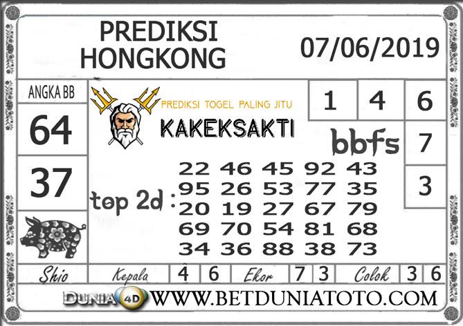 Prediksi Togel HONGKONG  DUNIA4D 07 JUNI 2019