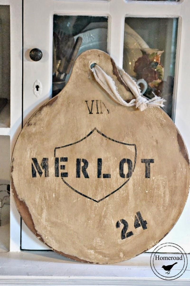 Wine Barrel Two Sided Chalkboard