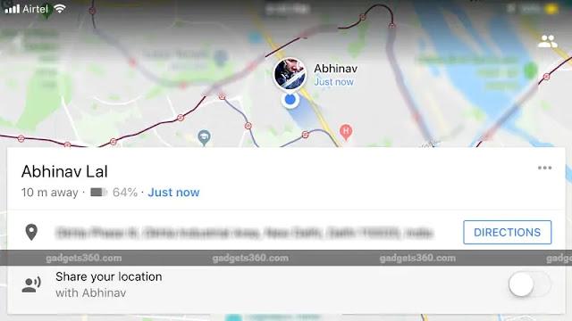 مشاركة مستوى شحن الهاتف في خرائط قوقل !