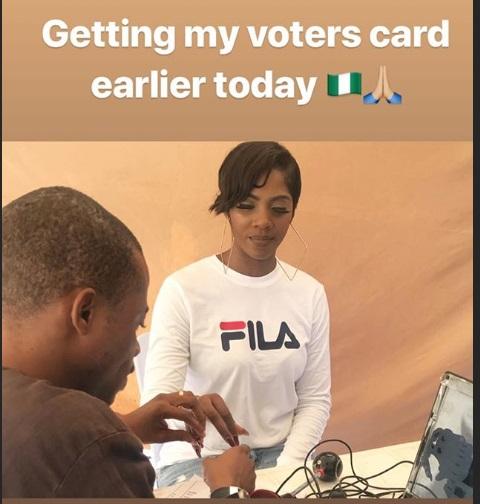Tiwa Savage Get Her Voters Card jaiyeorie
