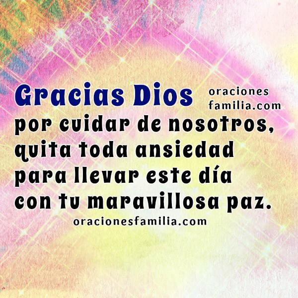 Oraciones a Dios por la mañana, buenos días con oración bonita con imágenes con palabras de aliento para Dios por Mery Bracho