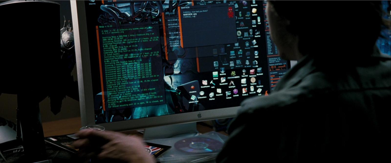 Die Hard 4 nmap cameo