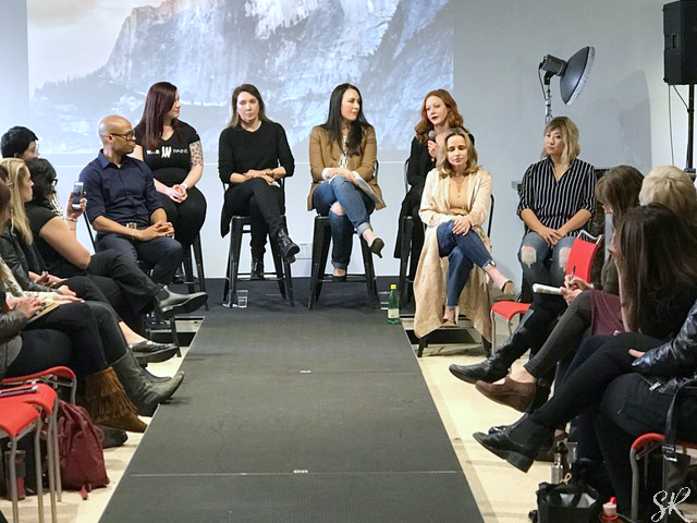 a panel of makeup artists and hairstylists