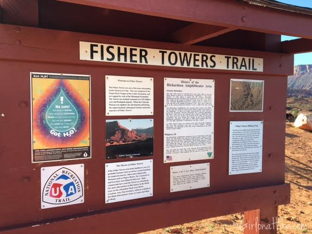 Hiking the Fisher Towers, Moab, Utah