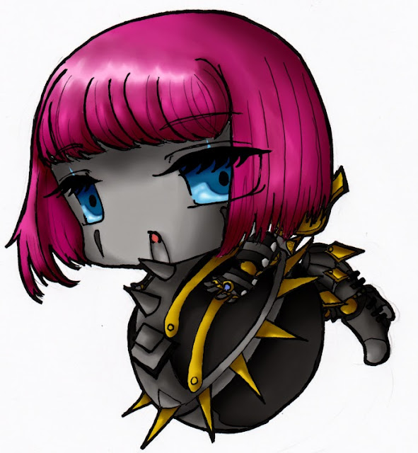 Orianna thép gai chibi cartoon