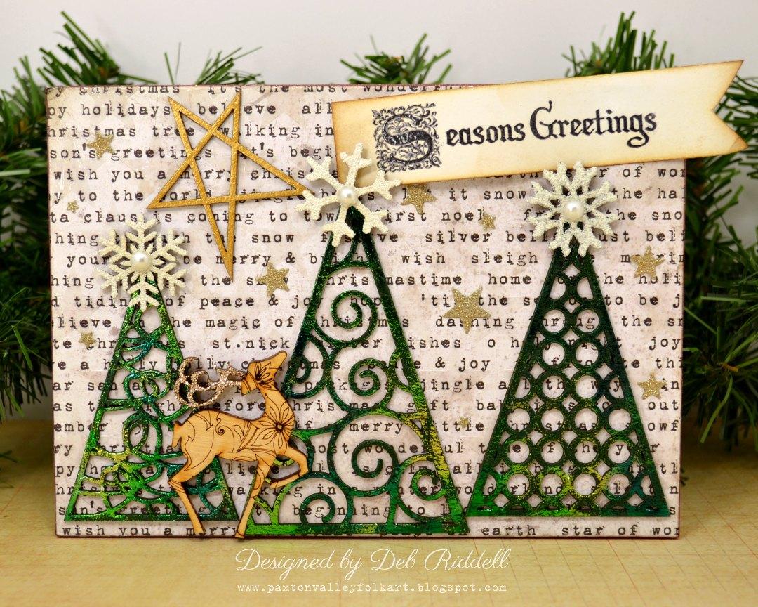 Deb Riddell Designs: Season's Greetings Christmas Tree