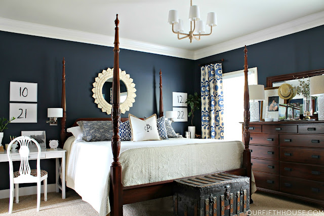 Stylish Blue Master Bedroom