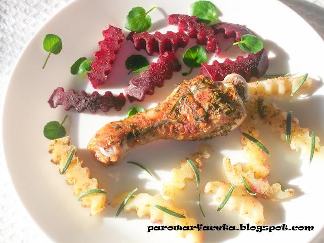kurczak z buraczkami na obiad na parze