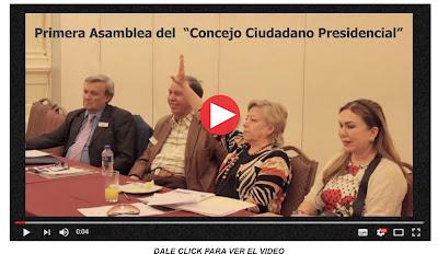 """Primera Asamblea del  """"Concejo Ciudadano Presidencial"""""""