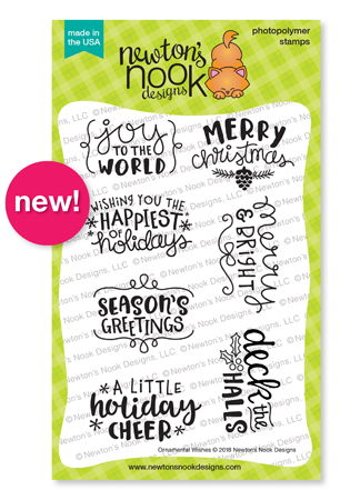 Ornamental Greetings Stamp Set by Newton's Nook Designs #newtonsnook