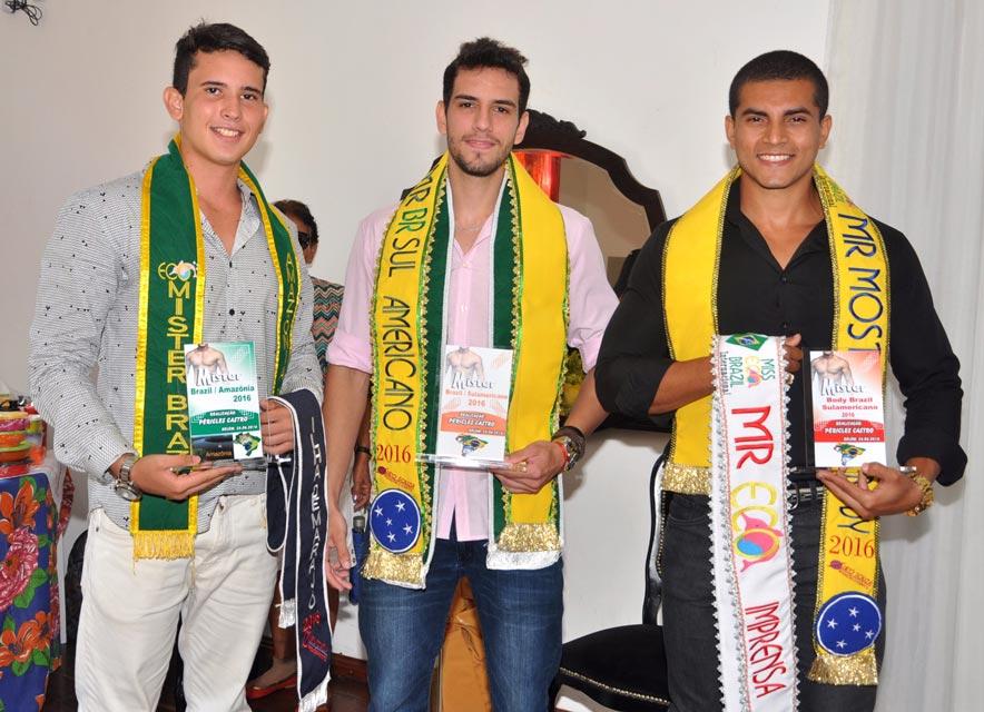Mister Brazil Amazônia, Mister Brasil Sul Americano e Mister Body Brasil Sul Americano. Foto: Pedro Araújo