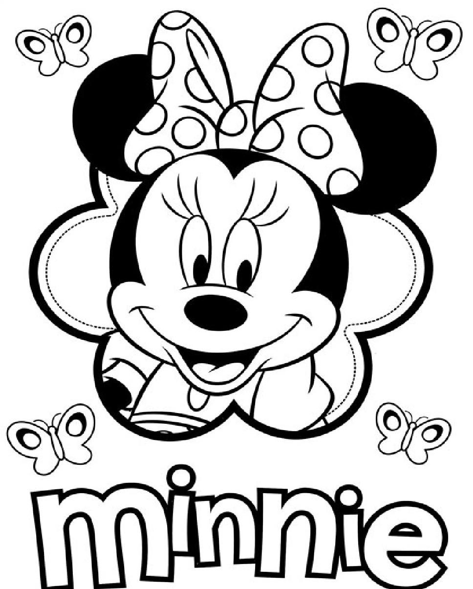 Yeni çocuk Boyamaları En Güzel Minnie Mouse Boyamaları