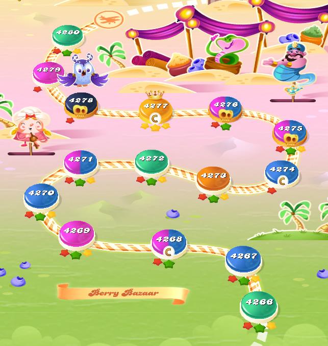 Candy Crush Saga level 4266-4280