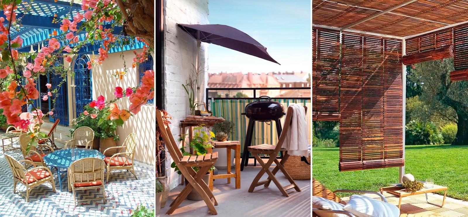 Terraza peque a lista para el verano es algo personal - Toldos fijos para terrazas ...