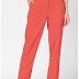 Pantaloni femei Esprit roz eleganti cu buzunare decorative pe partea din spate
