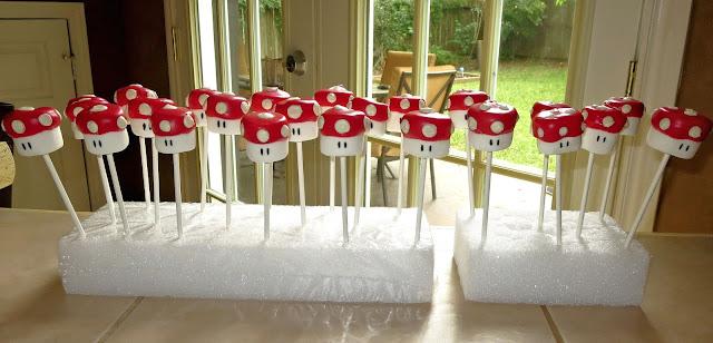 Mario Mushroom Marshmallow Pops 2