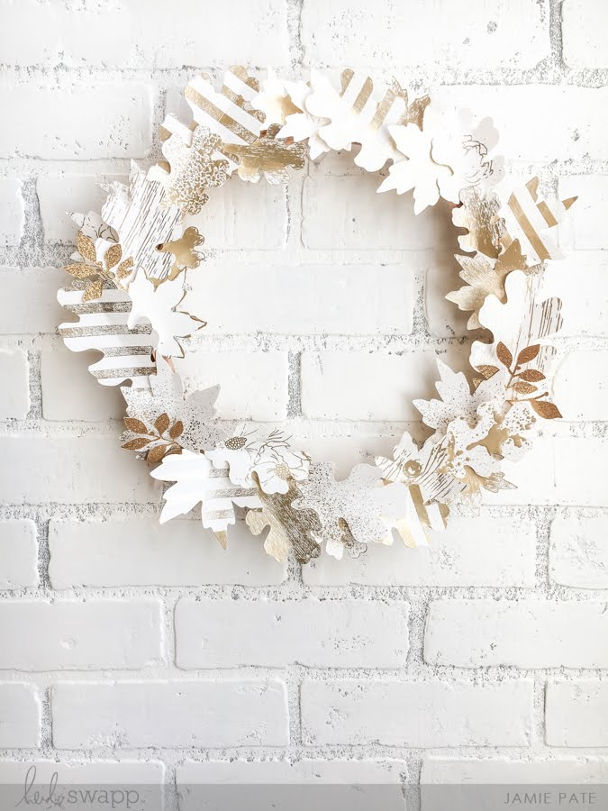 Heidi Swapp Minc Foiled Fall Wreath by Jamie Pate | @jamiepate for @heidiswapp