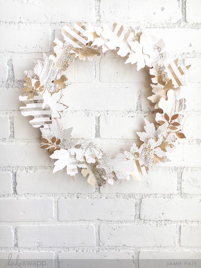 Heidi Swapp Minc Foiled Fall Wreath by Jamie Pate   @jamiepate for @heidiswapp