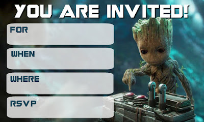 free guardians of the galaxy birthday printables