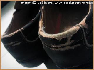 loafer Bata Malaysia mereput setelah disimpan lama