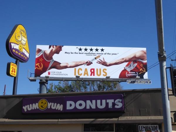 Icarus Netflix FYC billboard