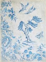 Antique Farmhouse Decorator Paper Blue & White