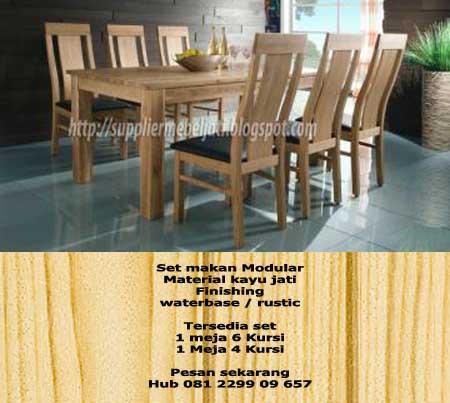Perabot Mebel Furniture Jati Meja Kursi Makan Jati Minimalis