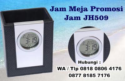 souvenir jam meja murah, souvenir JH-509, Jam Holder Exclusive, Jam Meja promosi (JH 509), Jam Meja Digital / Analog untuk Promosi Perusahaan Exclusive dan Premium