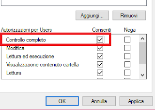 Controllo completo sicurezza Windows 10