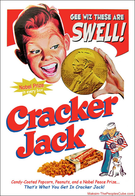 Classic Cracker Jack Box advertising the prize inside