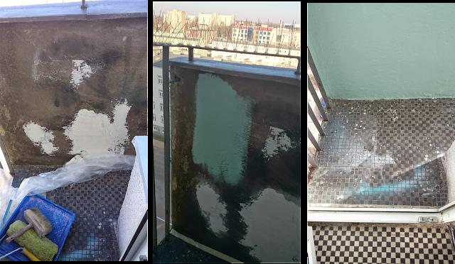malowanie elewacji balkonu