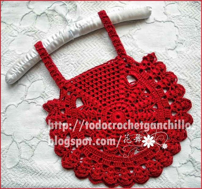 Top de verano para niña al crochet