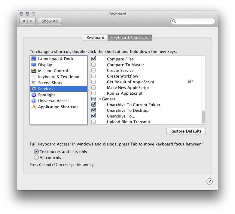 Mac OS X: Shortcut to extract files to specific directories