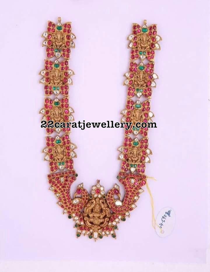 Ganesh Long Chain with Rubies
