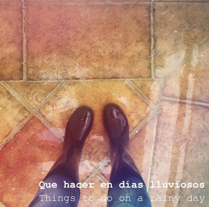 Valentina Vaguada: rain, rainy day, rain boots, things to do