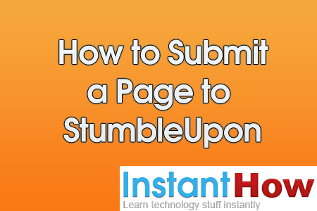 How to Submit a Page to StumbleUpon