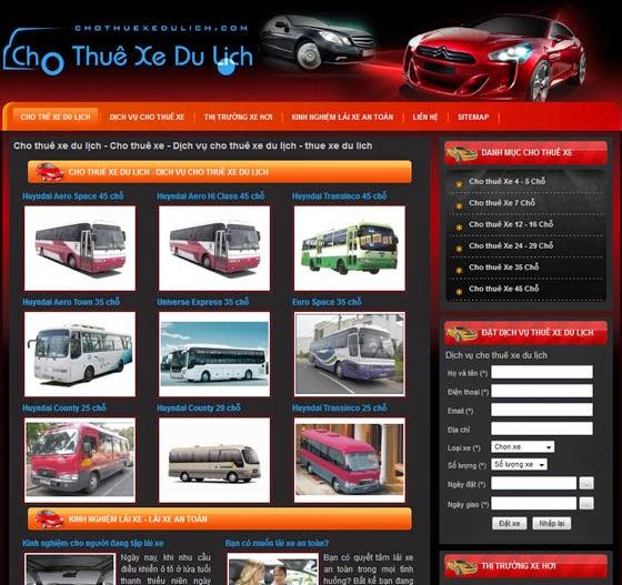 dịch vụ thiết kế website bán hàng cho thuê xe