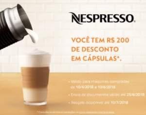 Cadastrar Promoção Nespresso Dia das Mães 2018 Máquinas Café 200 Reais Cápsulas