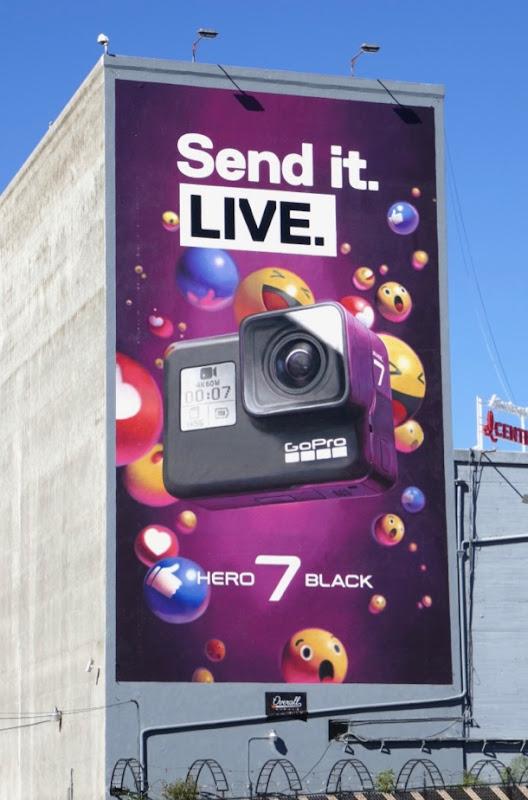 Send it Live GoPro Hero 7 Black wall mural ad