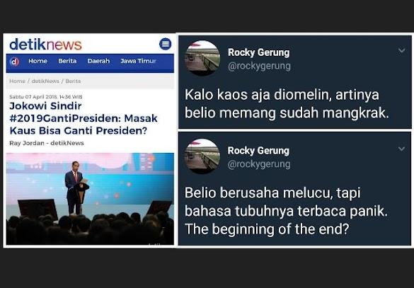 Jokowi Sindir Kaos #2019GantiPresiden, Ini Tanggapan Makjleb Rocky Gerung
