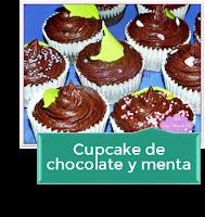 CUPCAKE DE CHOCOLATE Y MENTA