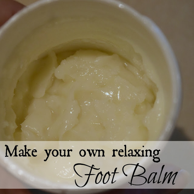Make your own relaxing foot balm.