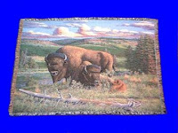 Buffalo Blanket Throw Tapestry Bison