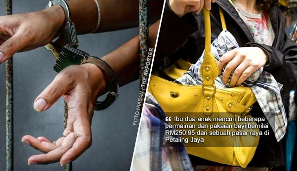 Padah Curi Permainan Dan Pakaian Bayi Bernilai RM250, Ibu Dipenjara, Denda RM1,300